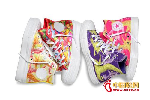 资讯生活CONVERSE匡威2014幻彩几何女生鞋款限量上市
